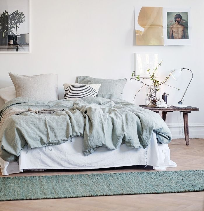 Pastel Blue And Green In This Cozy Home   Via Cocolapinedesign.com ·  Scandinavian BedroomScandinavian DesignColor WhisperBedding ... Part 88