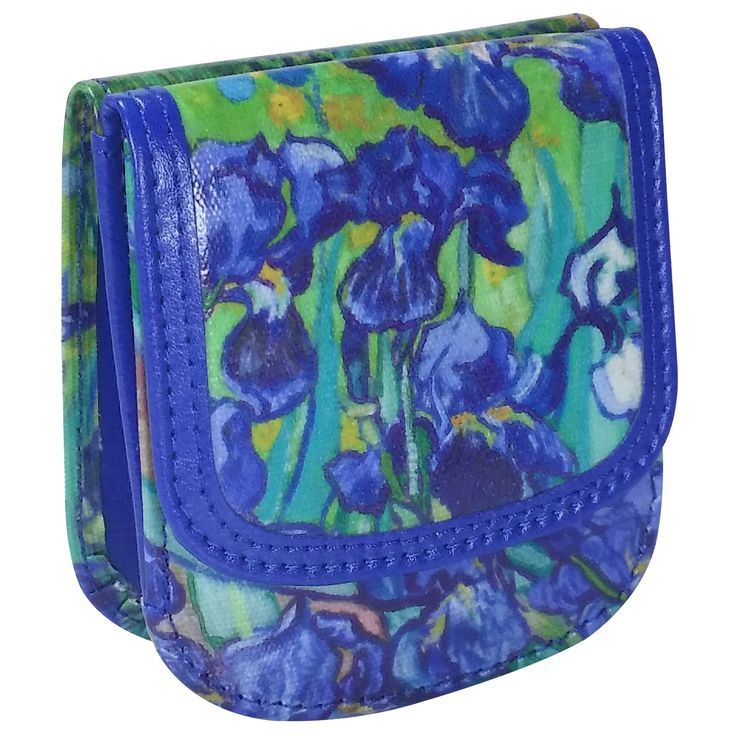 Van Gogh Irises Taxi Wallet  Compact Vegan coin wallet