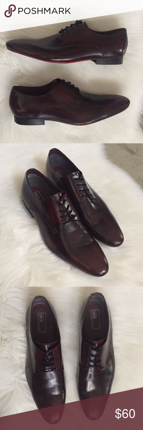 ASOS Oxblood Patent Leather Derby Shies Size 12 ASOS brand oxblood patent leather derby shoes. Size 12. Worn once, in very good condition.   Feel free to ask any questions. No trades, offers welcome. ASOS Shoes Oxfords & Derbys