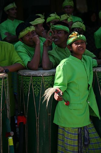 Percussionists in Lombok, Indonesia