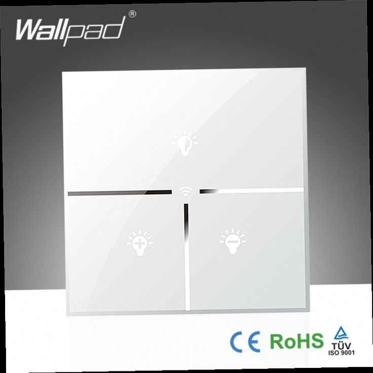 46.58$  Watch now - http://ali98k.worldwells.pw/go.php?t=32562891943 - Best Sales Wallpad White Glass LED 110~250V EU Phone Wifi Wireless Remote Controlled Power Dimmer Light Switch, Free Shipping