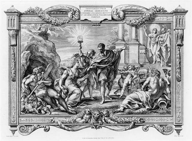 Ο καλλιτέχνης που οδηγεί τη ζωγραφική από το σκοτάδι στο φως  Χαλκογραφία του Pietro Aquila (1640~1700)