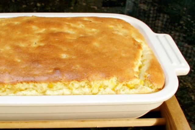 A delicious corn pudding recipe, a corn casserole recipe made with butter, cream style corn, kernel corn, eggs, and flour. This corn pudding is very tasty, and the perfect accompaniment for a roast or baked ham.