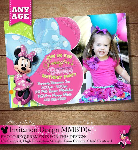 Minnie Mouse Bowtique PRINTABLE Birthday Invitation