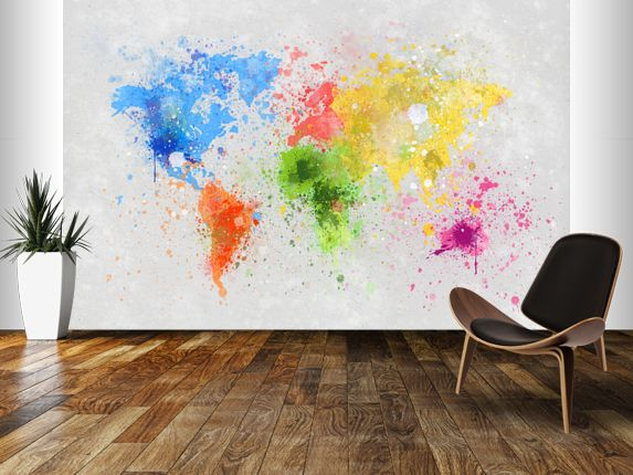 World Map Painting Wall Mural Part 86