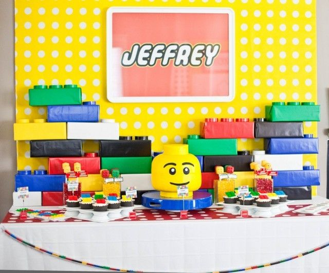 boy's modern Lego theme birthday party ideas