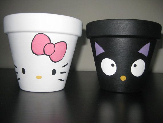 Hand painted Hello Kitty and Choco Cat by HANNIBALSTOYSNMORE