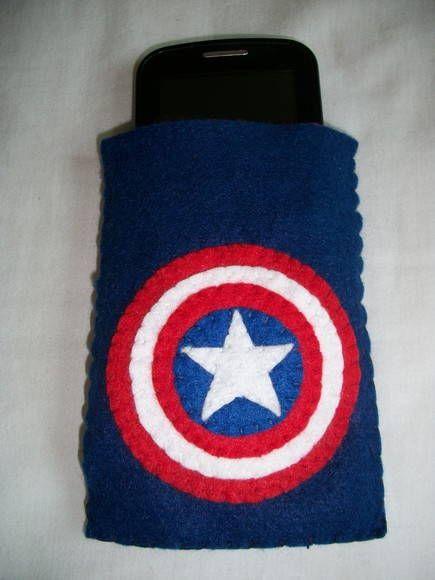capa de celular capitão america