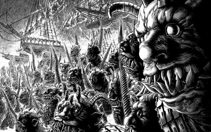 Berserk - Kentaro Miura | Monster drawing, Manga