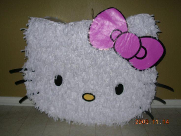 Piñata de Hello Kitty -Como hacer una Piñata Con Cartón