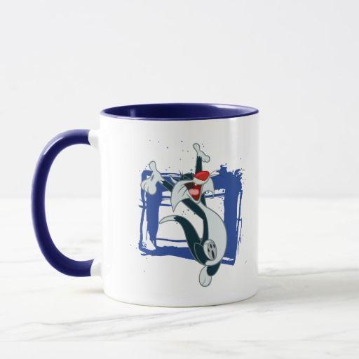 Sylvester Arms Up. Regalos, Gifts. Producto disponible en tienda Zazzle. Tazón, desayuno, té, café. Product available in Zazzle store. Bowl, breakfast, tea, coffee. #taza #mug #LooneyTunes
