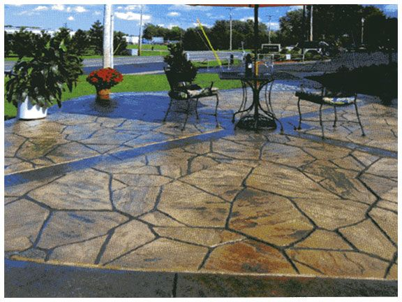 Brown Stamped Concrete Patio : Stamped concrete flagstone and patios on pinterest
