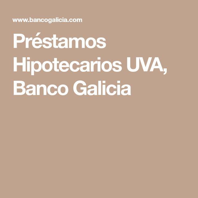 Préstamos Hipotecarios UVA, Banco Galicia