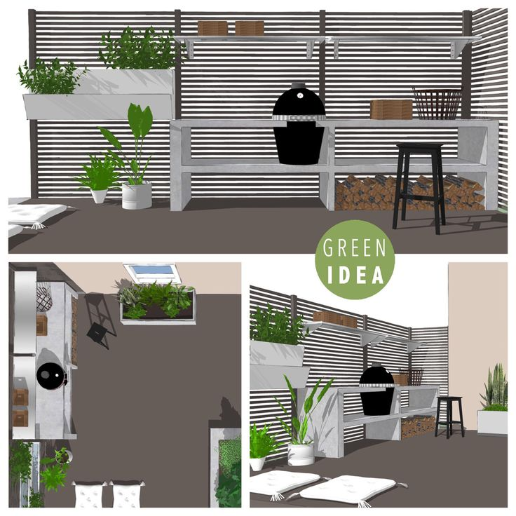 Outdoor kitchen plan, Designed by Green Idea