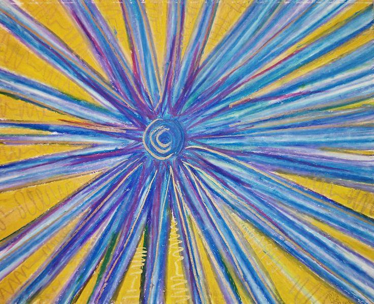 Soleil Bleu | Blue Sun 11x14 | 27.9 x 35.5 environ  Papier Canson sans acide  Canson Paper acid free  98Lb | 160g
