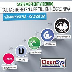 Teknik i framkant - CleanSys Energieffektivisering