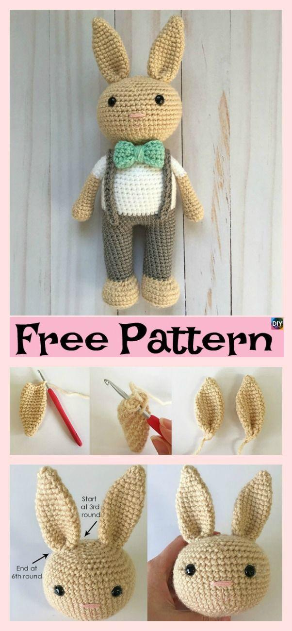 Beautiful Crochet Bunny Headband – Free Pattern #freecrochetpattern #bunny#ami…