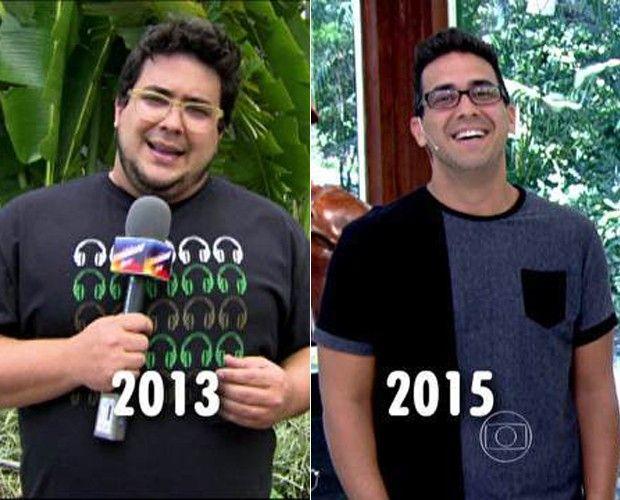 André Marques: antes e depois da cirurgia (Foto: TV Globo)