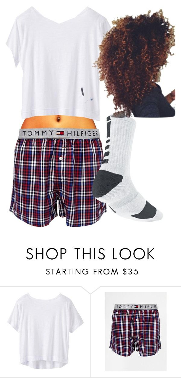 """""""NIGHTY NIGHT"""" by jaybabe ❤ liked on Polyvore featuring Athleta, Tommy Hilfiger and NIKE"""