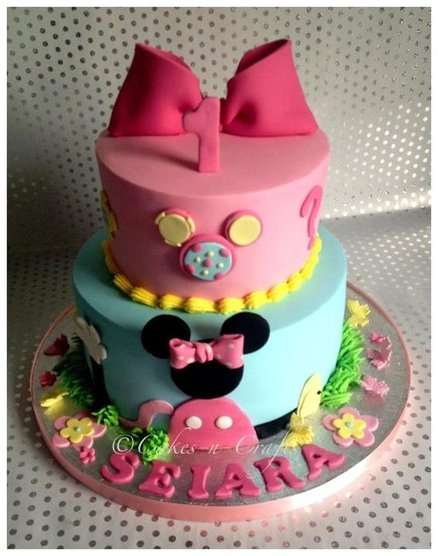 Mickey And Minnie Birthday Cake Ideas