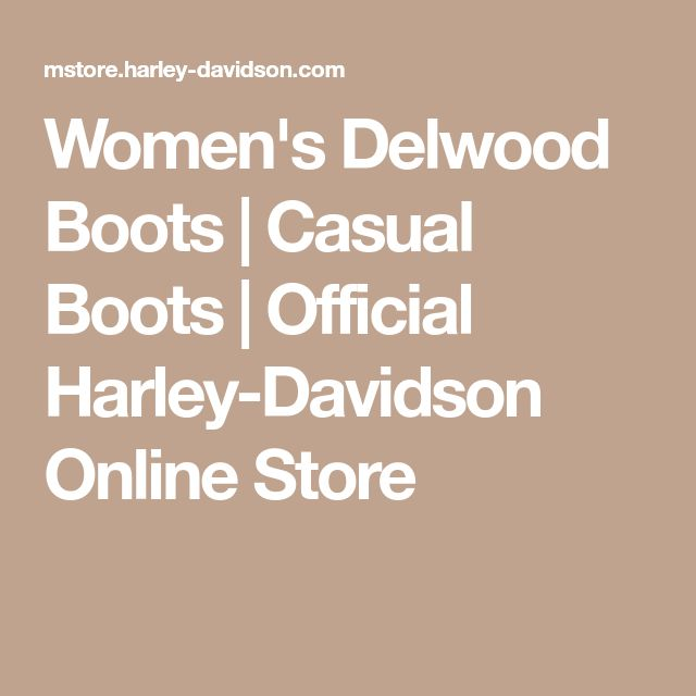 Women's Delwood Boots | Casual Boots | Official Harley-Davidson Online Store