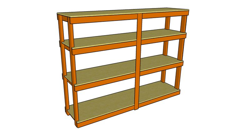 how to build free standing storage shelves 1