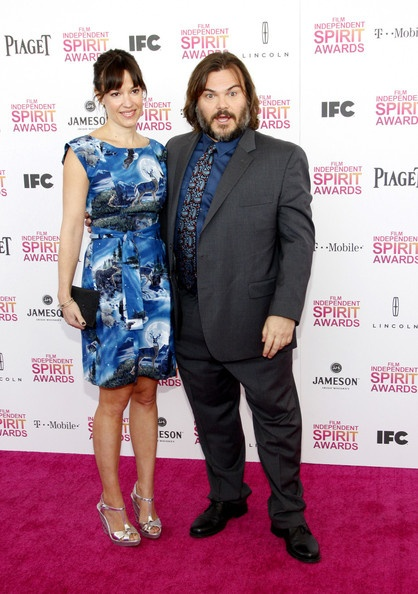 Jack Black and Tanya Haden seen attending the 2013 Film Independent Spirit Awards held in Santa Monica, Los Angeles.