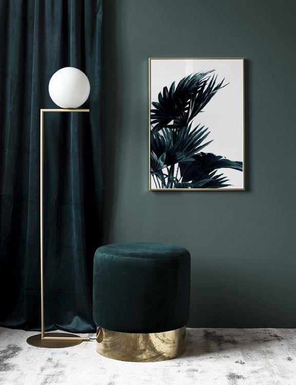 Poster mit Palmenblättern | Botanik-Fotos | Desen…