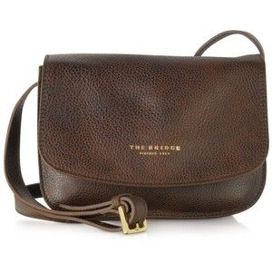 The Bridge Handbags Sfoderata Soft Dark Brown Leather Crossbody Bag
