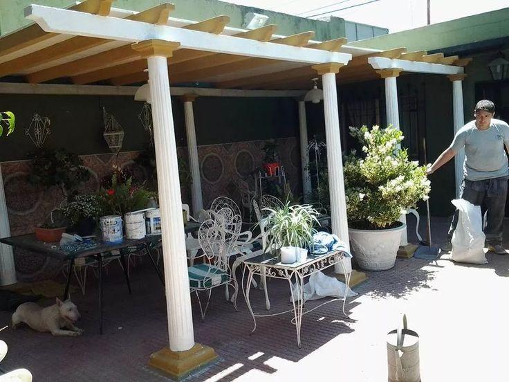 pergolas de cemento para exterior y jardin x mtrs