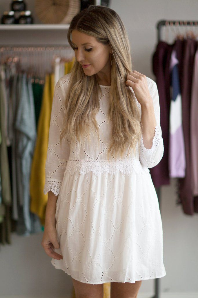8260f250035 French Garden Eyelet Dress- White in 2019