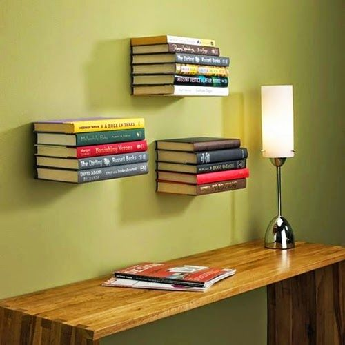 Small and Modern Unique Bookshelf for Study Desk with Decorative Reading Lighting Design Ideas