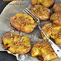 Pommes de terre tapées {ail, huile d'olive