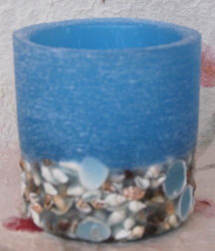 lantern in wax & shells