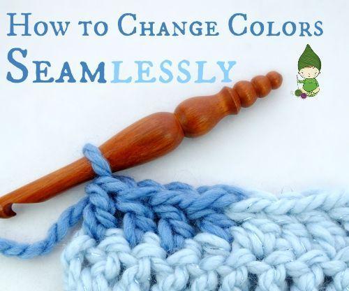 Como alterar as cores perfeitamente em Crochet ... Sem essa pequena ponte!