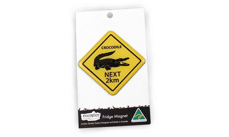 Roowho Road Sign - Crocodile