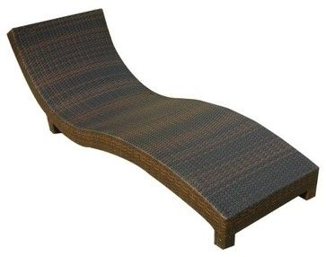Wicker Multi Brown Outdoor Lounge Chair   Contemporary   Outdoor Chaise  Lounges   Hayneedle