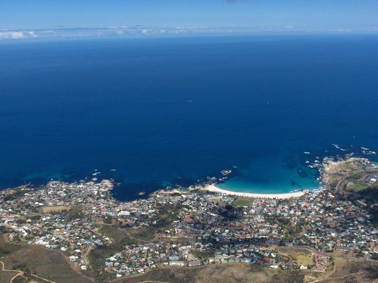 ...Kaapstad vanaf de Tafelberg