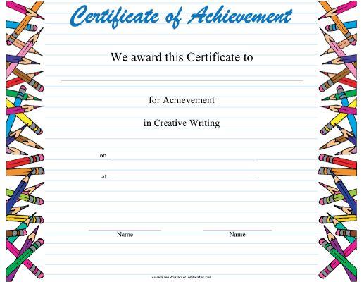 21 best Student Achievement Awards images on Pinterest School - certificate of achievement examples