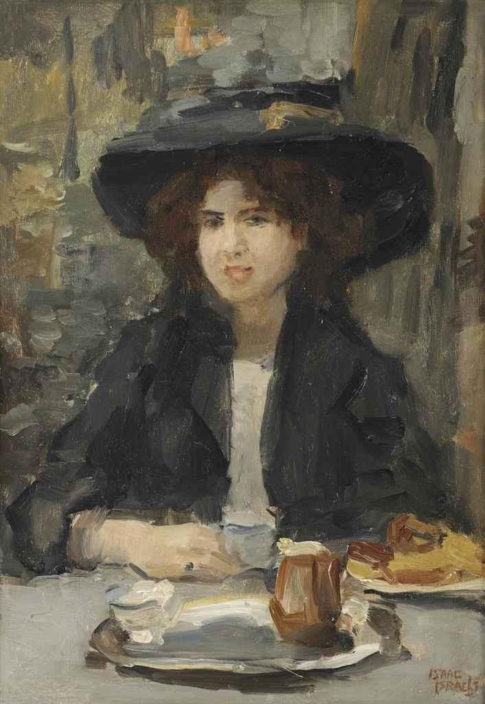 Isaac Israels (Amsterdam 1865-1934 The Hague)  Le petit jeuner, Bois de Boulogne  signed 'Isaac  Israels' (lower right)  oil on canvas  46 x 33 cm.  Painted circa 1904-1910.