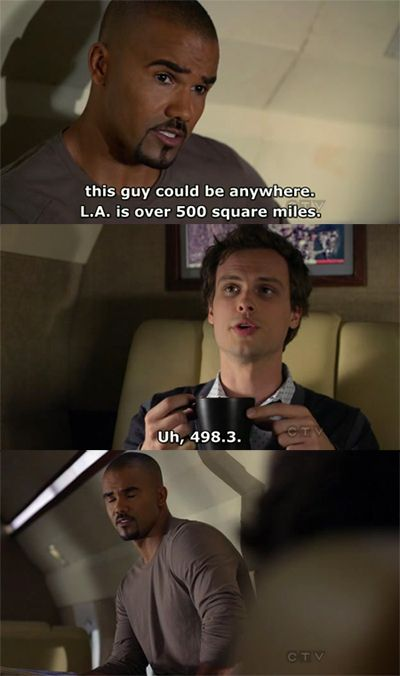 LOVE Criminal Minds. And love me some skinny white guy.