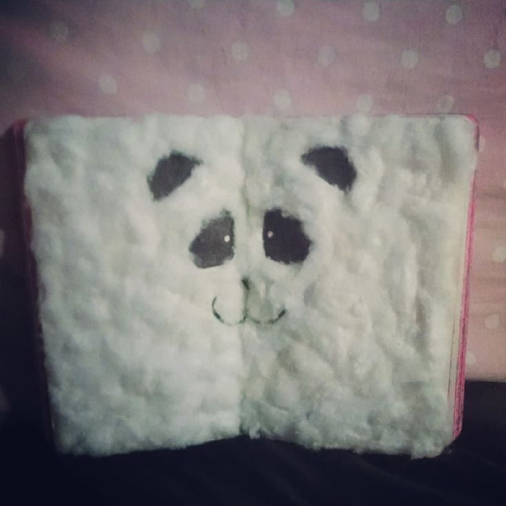 Cover this page with white things. Wreck this journal. Thats defo easy to wreck..looks cute and cuddly haha :)