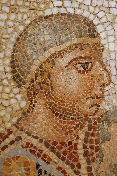 Ancient Roman circus mosaic detail, c 4th century CE