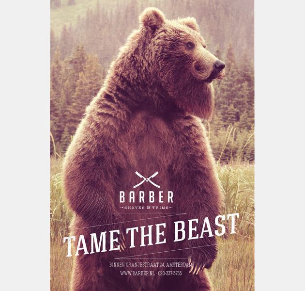 Tame The Beast Barber Shop Campaign