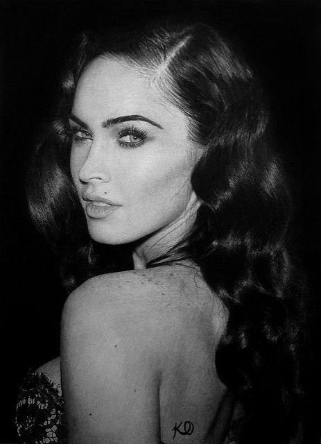 Megan Fox | A drawing of American actress and model Megan Fo… | Flickr