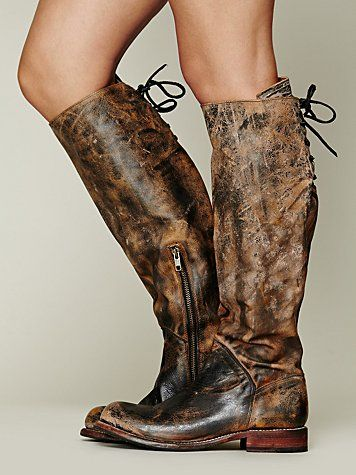 Brand New BED STU MANCHESTER Tall Boots Black Lux Distressed Leather Size 11