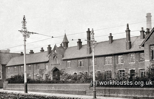 Oldham workhouse frontage, c.1905