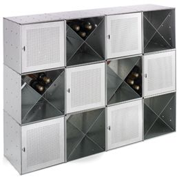 The Container Store > Galvanized Cube Wine BarWine Bars, Wine Racks, S'Mores Bar, Galvanized Cubes, Galvanized Qbo, Cool Ideas, Cubes Wine, Organic Shower, Steel Cubes