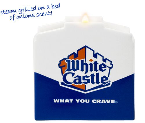 Um... White Castle candle?!? I LOVE White Castle, but I'm not sure exactly how I feel about this.