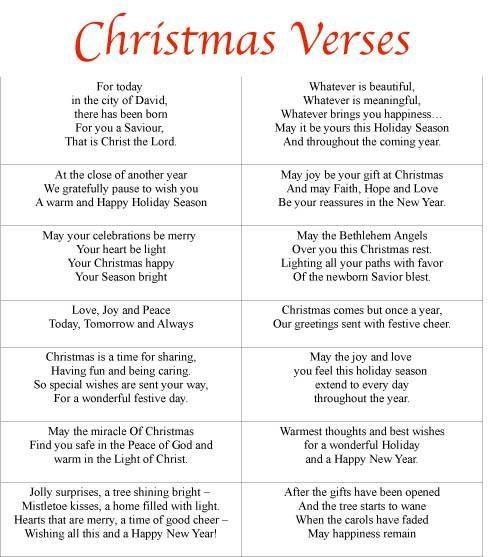Free Printable Christmas Card Sayings by selma